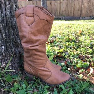 Brown leather Steve Madden Cowgirl Boots SZ 6.5